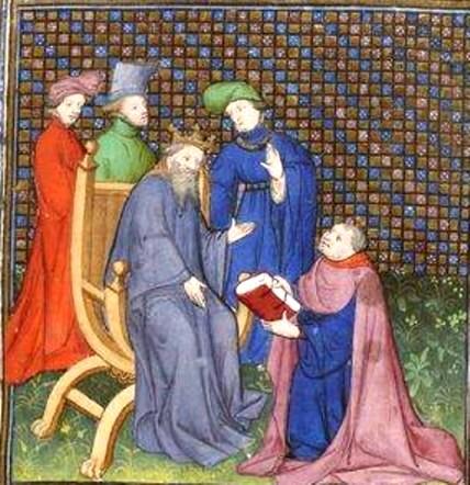 Augustin, închinându-şi cartea... viitorimii
