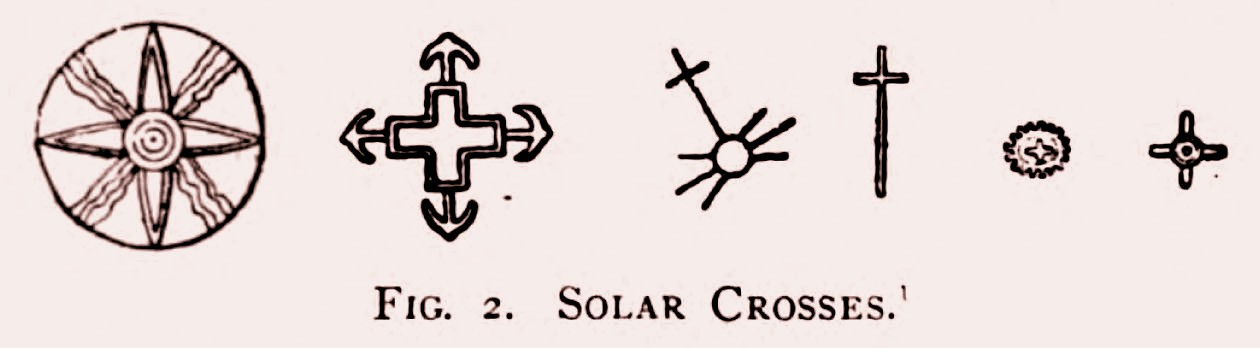 Crucea solară, în câteva străvechi variante