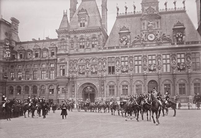 GALLICA, 10.04.1924: réception des souverains roumains à l'Hôtel de ville