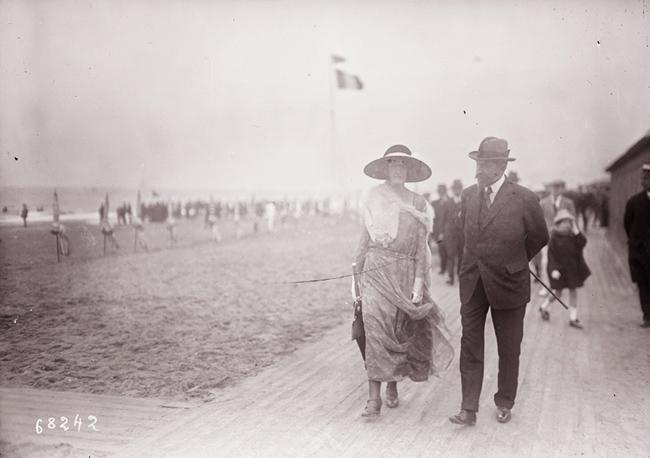 GALLICA, 21.08.1921: Deauville, le roi de Roumanie