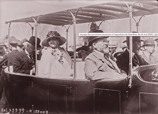 GALLICA: Voyage des souverains roumains à l'exposition de Wembley,  14 mai 1924