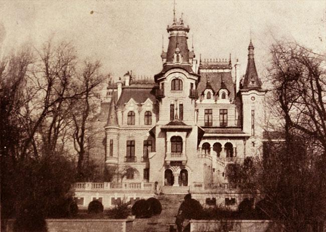 Hotel Helene Cretzulescu, din str. Ştirbei Vodă - vedere dinspre Cişmigiu