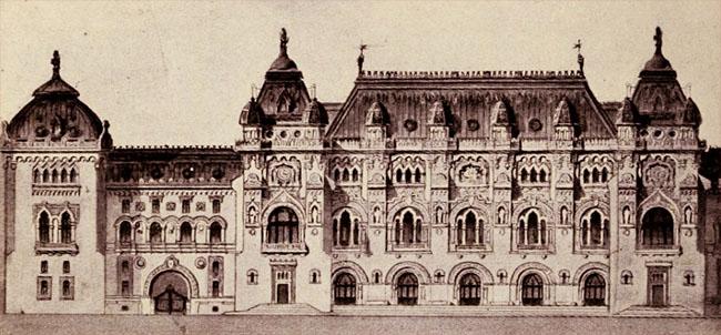 """Viitorul """"hotel al oraşului"""" Bucureşti, proiectat de arhitectul Mincu"""