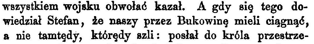 Bielski, despre Bucovina