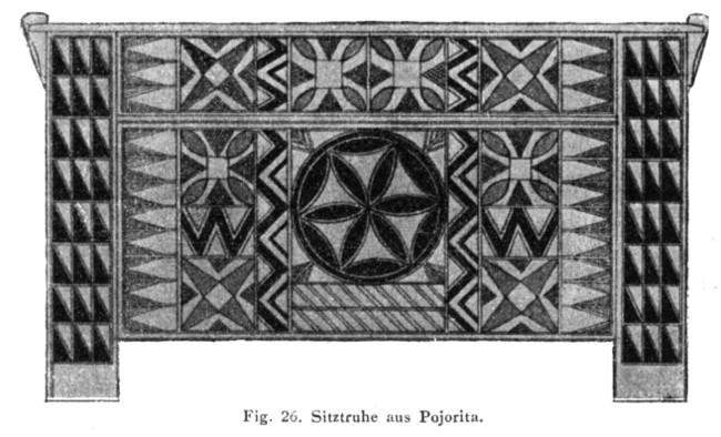 Ornamentaţia lăzii de zestre din Pojorâta