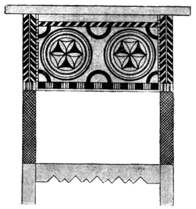 Desen al ornamentaţiei mobilierului din Câmpulung