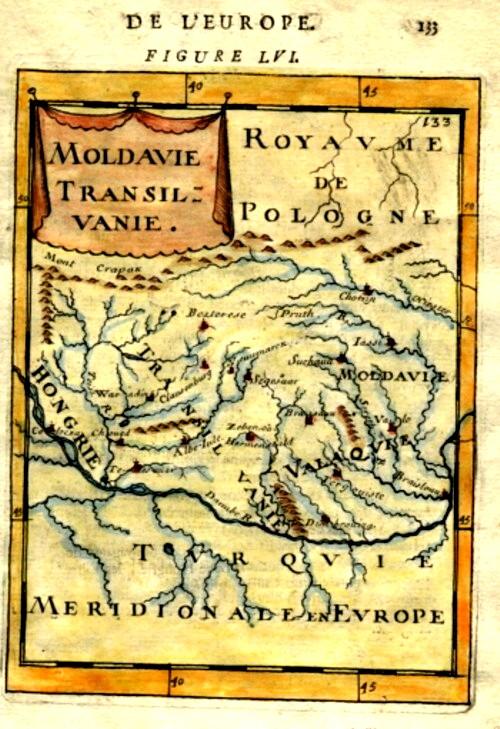 Polonia, Moldova şi Transilvania, într-o hartă a ediţiei din 1683