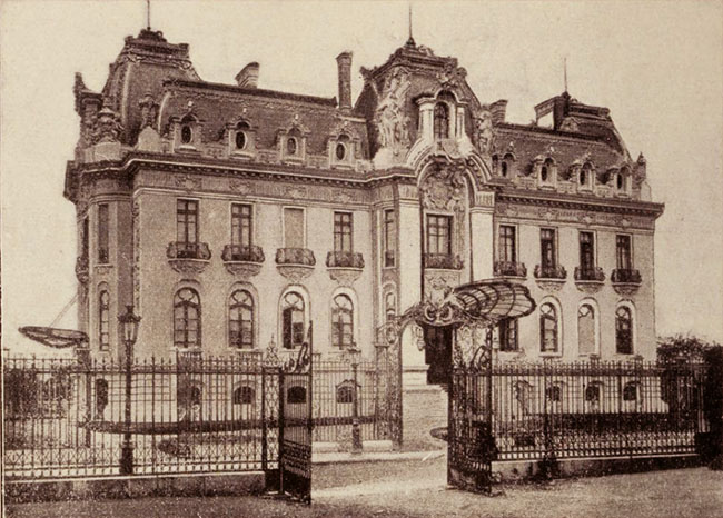 Palatul George Gr. Cantacuzino - arhitect M. J. Berindey