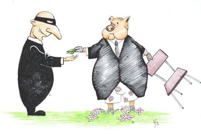 Caricatură de Sorin Dumitru Baciu
