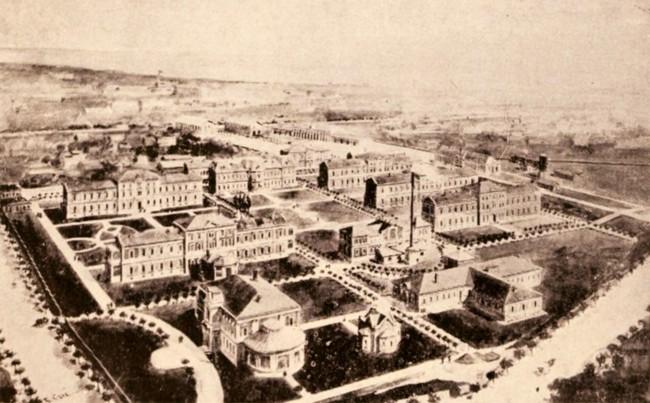 Spitalul Militar din Bucureşti, în 1906