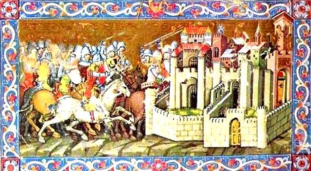 Hunii, asediind Aquileia