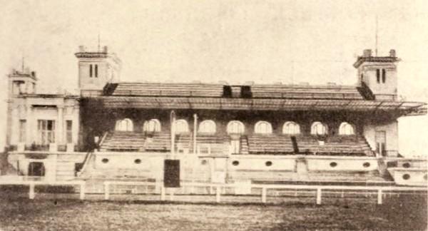 Tribunele Hipodromului Băneasa; arhitect I. D. Berindei