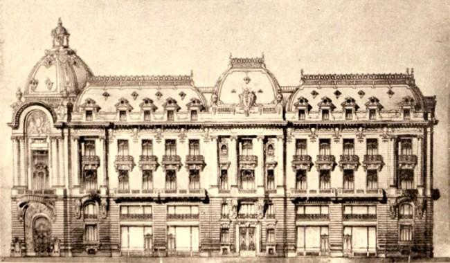 Viitorul sediu al Camerei de Comerţ şi al Bursei; arhitect S. Burcuş