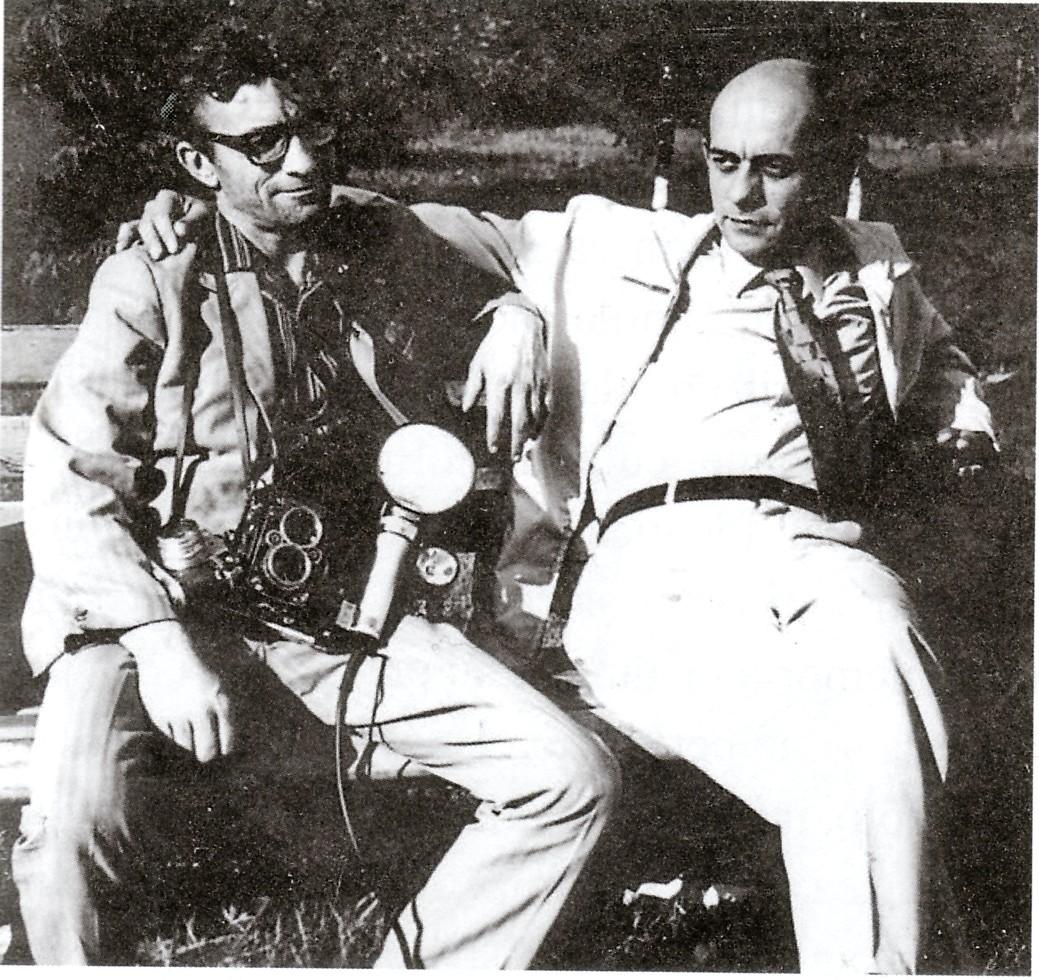 Dumitru Vinţilă şi prozatorul Alexei Rudeanu