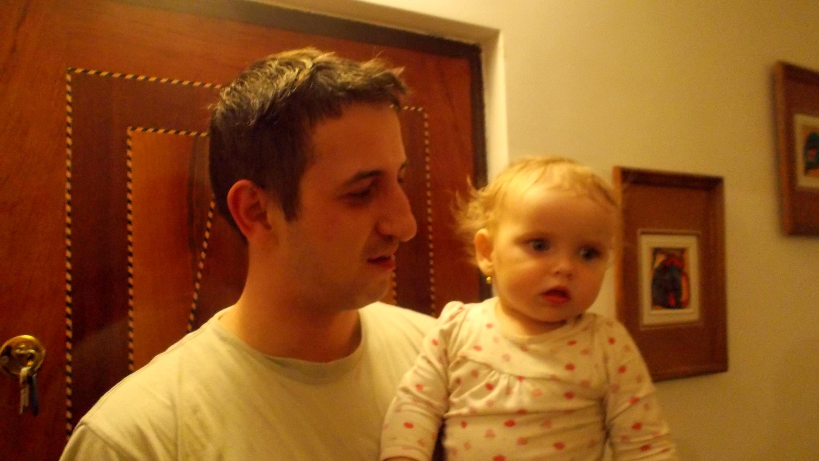 Ioana-Carina şi tatăl ei, Mihai-Octavian