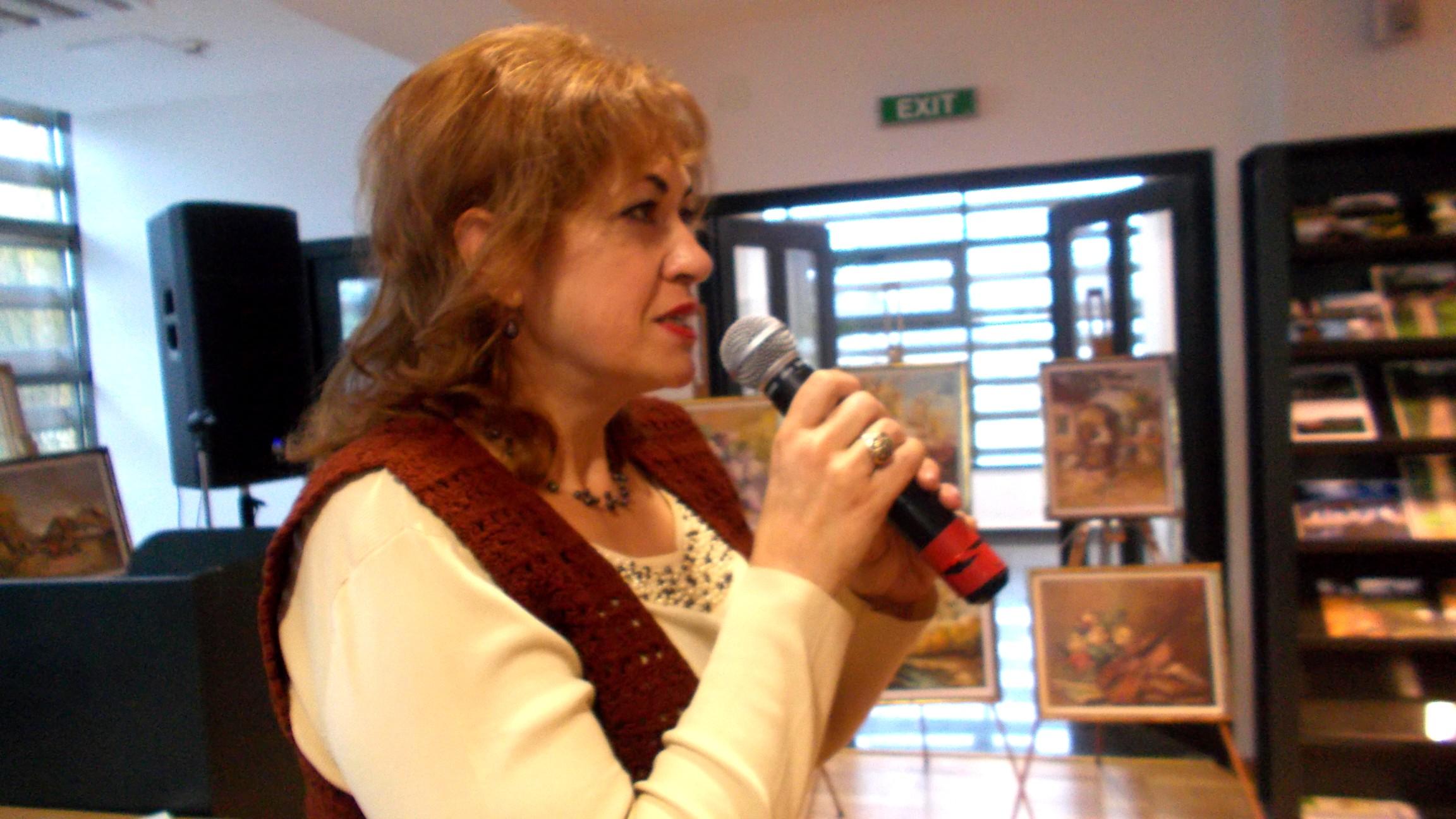 Gabriela Teişanu, doinind ca la Ilişeşti