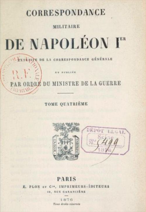 1807 Corespondenta lui Napoleon