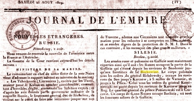 1809 Journal de l'Empire