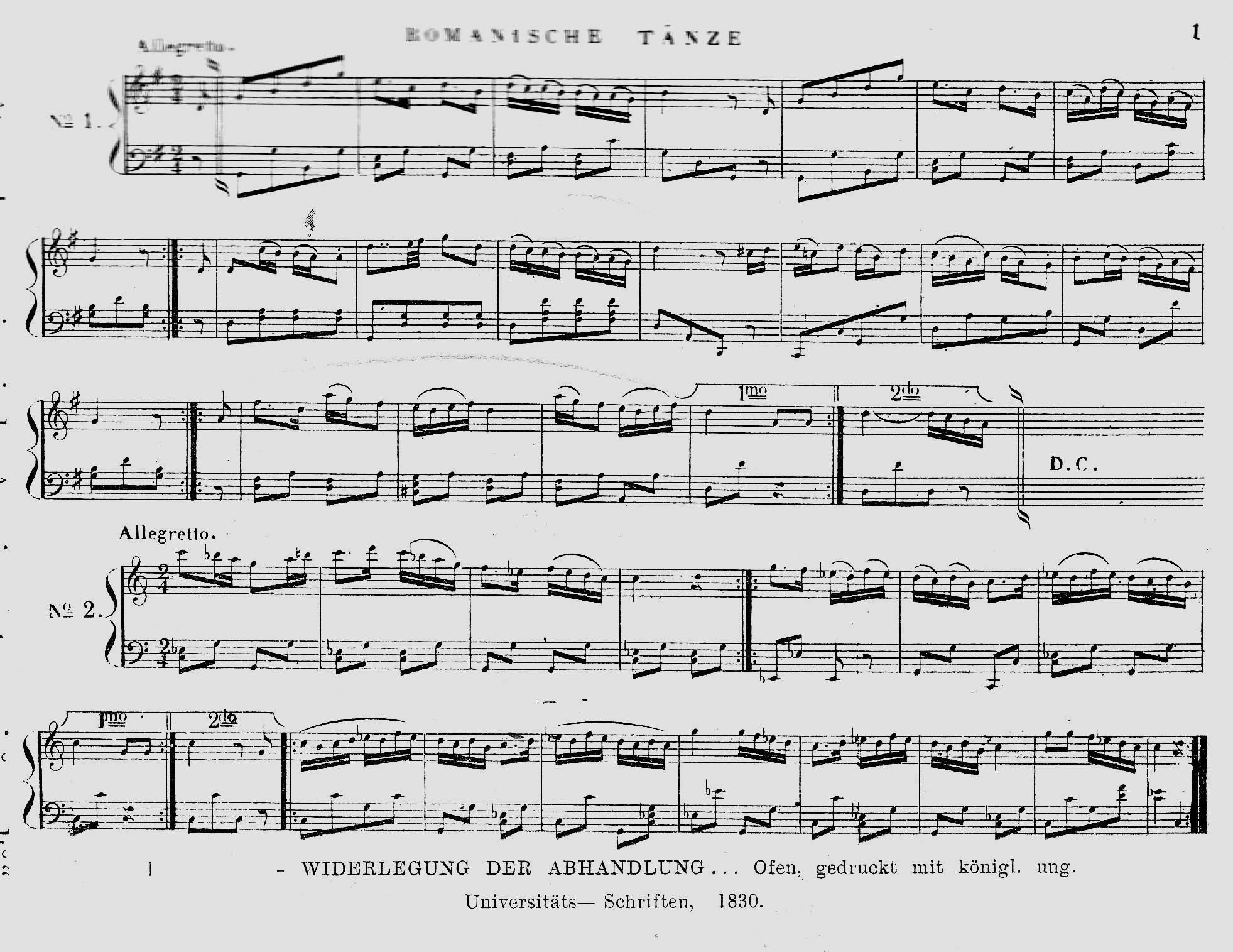 Dansuri ţigăneşti din anul 1830