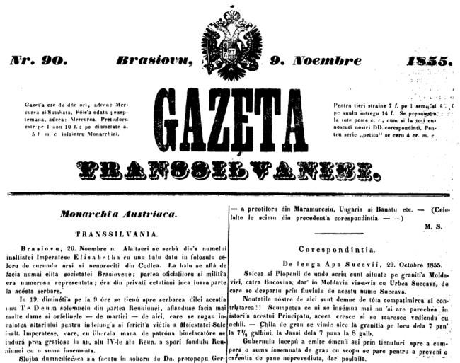 1855 noiembrie 9 GAZETA TRANSILVANIEI