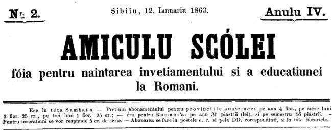 1863 Amicul Scolii Gimnaziul
