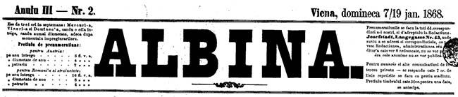 1868 Administrarea Fondului Religionar ALBINA