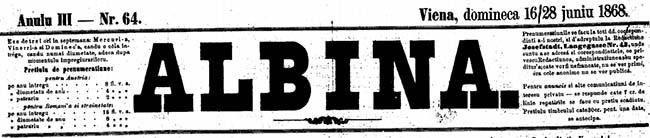 1868 combaterea Albina