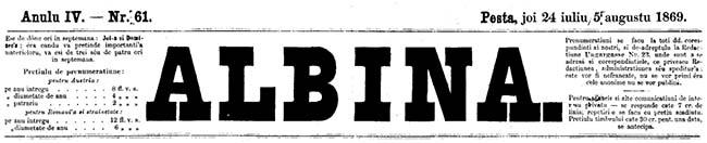 1869 Adunarea Albina