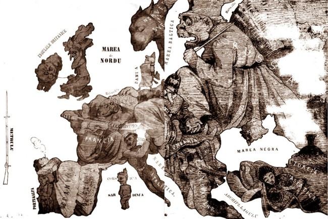Harta Europei - GURA SATULUI, 1870