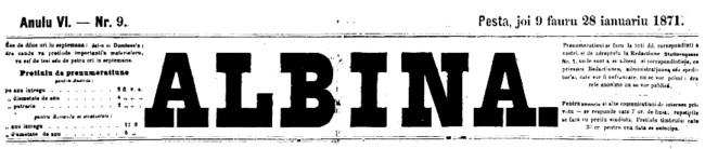 1871 Sfatul Albina coperta