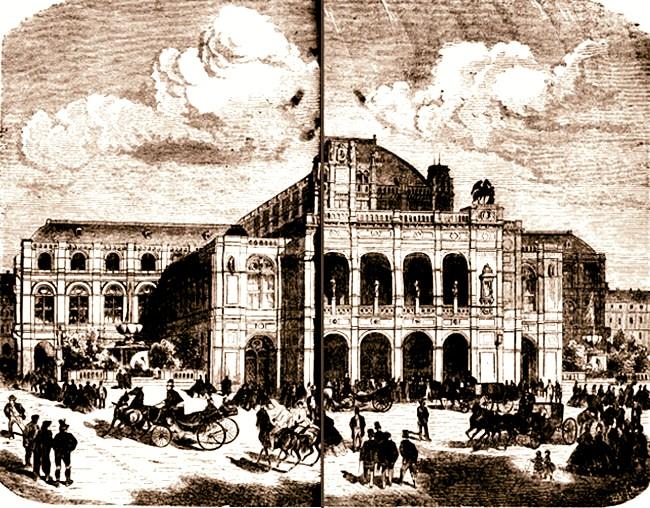 1871 Solemnitatea depunerii darurilor sepia