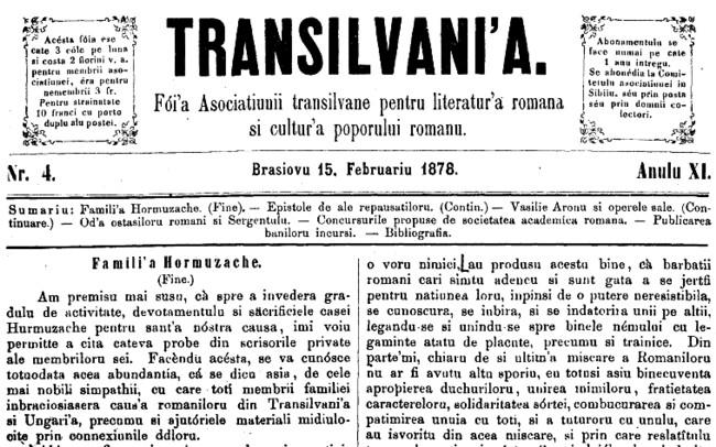 1878 Familia Hurmuzachi TRANSILVANIA 2