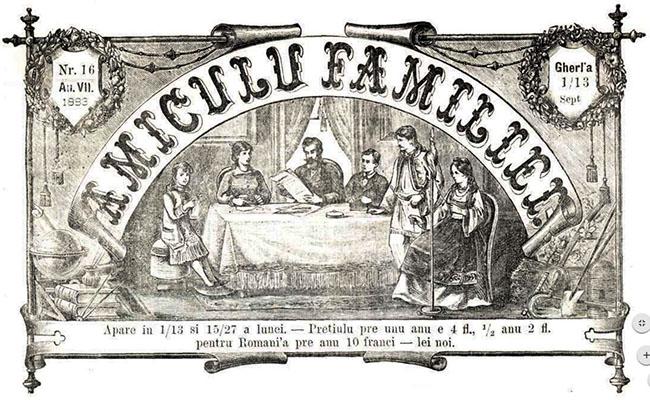 1883 Necrologul AMICUL FAMILIEI