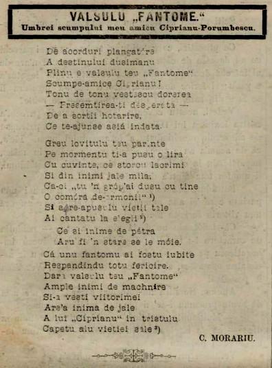 1884 Morariu poem pentru Ciprian AMICU FAMILIEI
