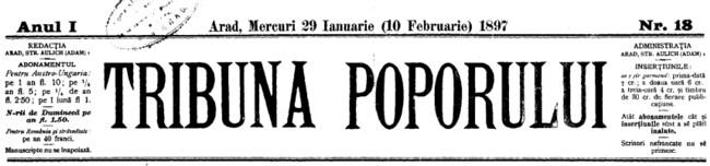 1897 Intrunirea conducatorilor TRIBUNA POPORULUI
