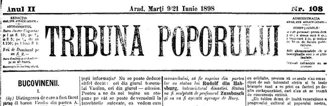 1898 Bucovinenii 1 TRIBUNA POPORULUI