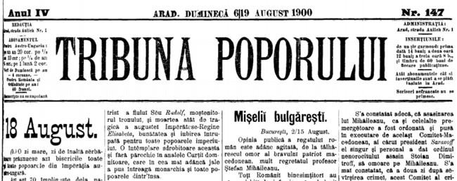 1900 Apelul fratilor TRIBUNA POPORULUI