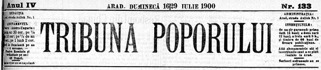 1900 Bancrotatul politicastru Mustatză TRIBUNA POPORULUI