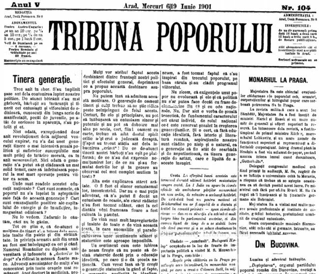 1901 Lumina si adevarul TRIBUNA POPORULUI
