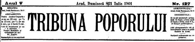 1901 Un polon despre TRIBUNA POPORULUI