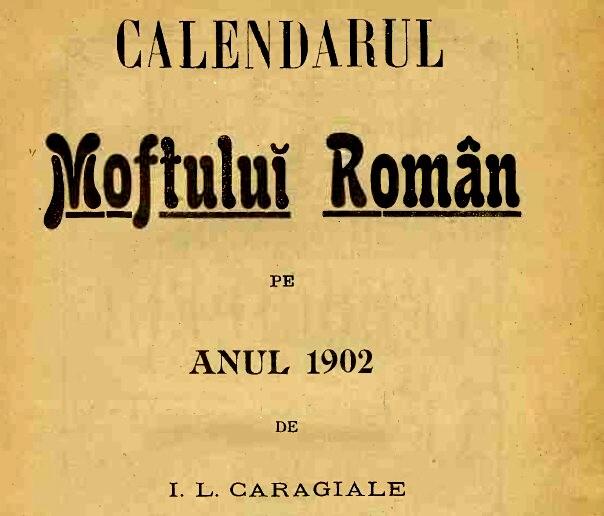 1902 Calendar Moftul Roman Frontispiciu