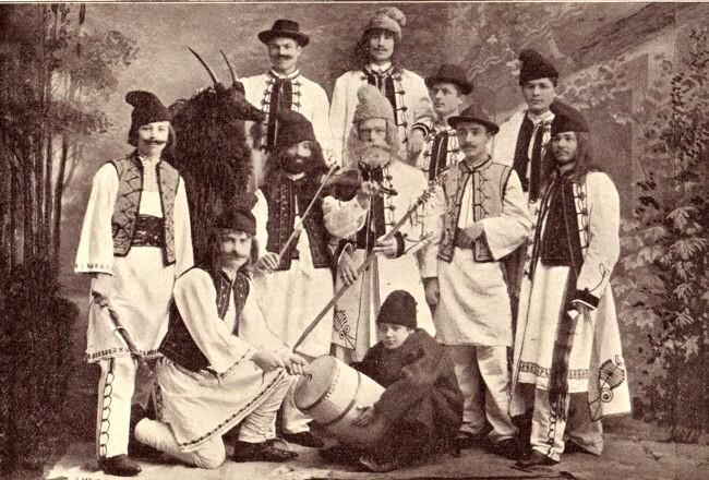 Colindători cernăuțeni, în 1903