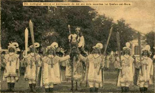 1904 Cortegiul istoric CALENDARUL MINERVA 1905
