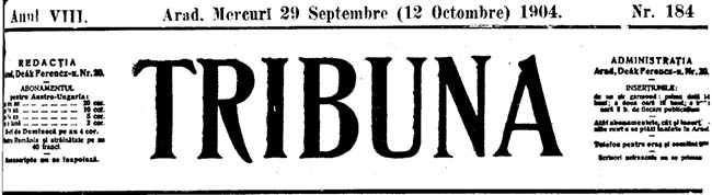 1904 Noul prezident TRIBUNA