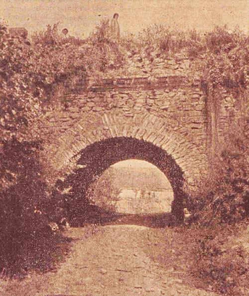 Podul lui Ștefan cel Mare de la Borzești, în 1904