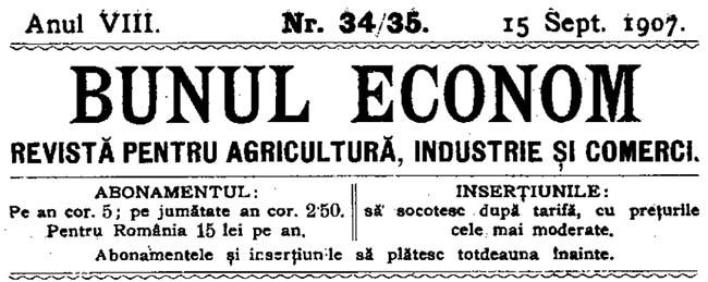 1907 cum lucra Bunul econom