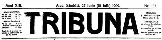 1909 Comemorarea lui Eminescu TRIBUNA