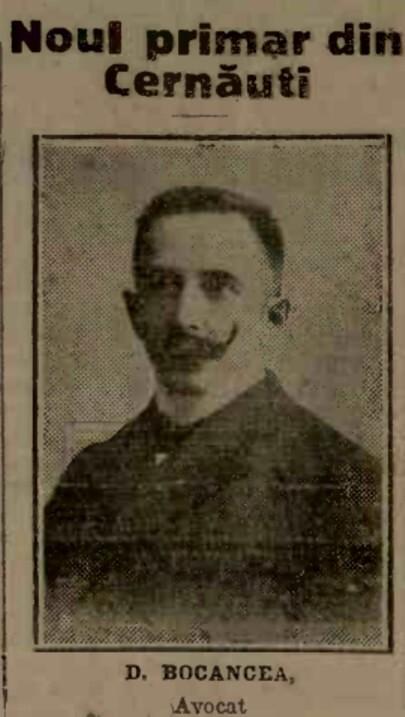Primarul Cernăuţilor, avocatul Dimitrie Bocancea