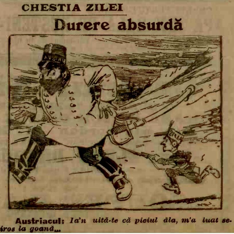 1914 Carcatura ADEVARUL 7 sept 1914