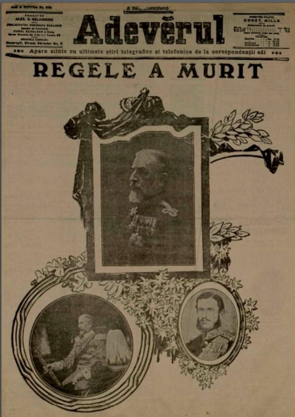 1914 Regele a murit ADEVARUL din 28 sept 1914